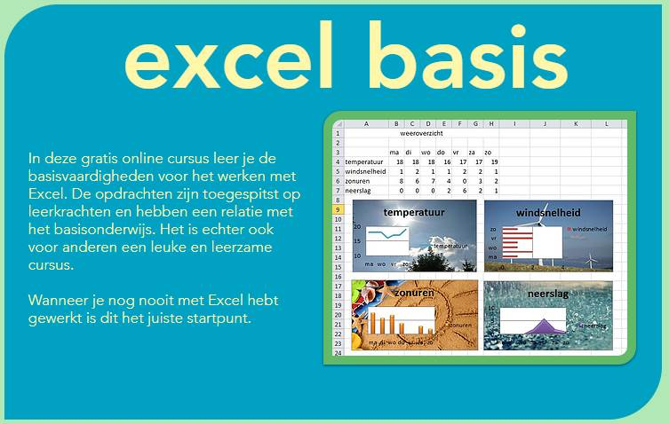 Gratis Excel cursus Martijn de Winter ICT en educatie